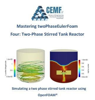Two-phase stirred tank reactor simulation using OpenFOAM®
